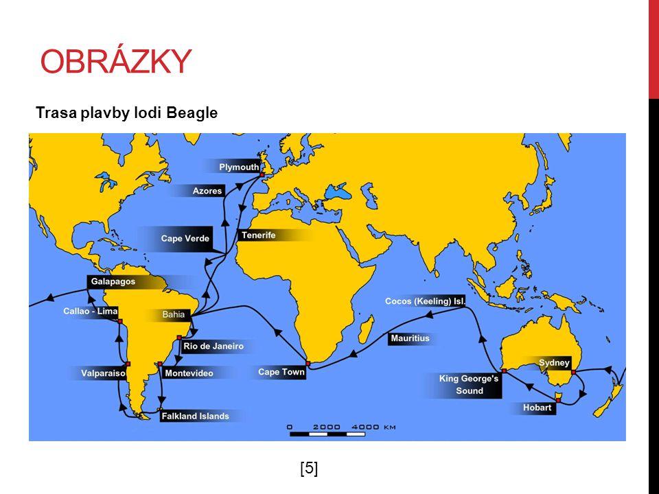 obrázky Trasa plavby lodi Beagle [5]